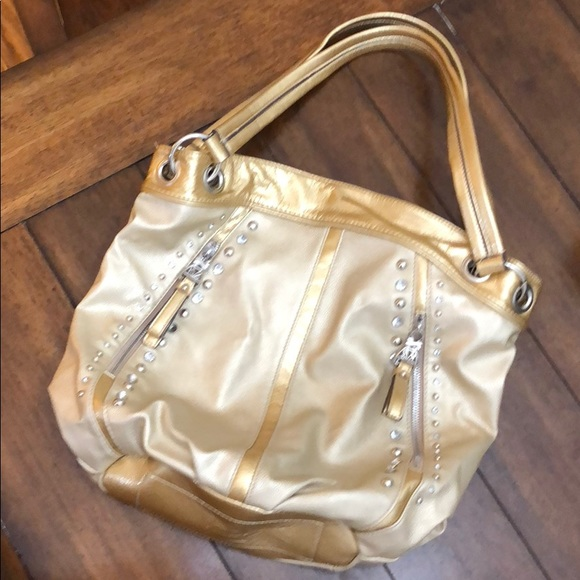 Kathy Van Zeeland Handbags - Kathy Van Zeeland Gold Pocketbook